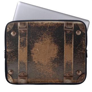 Vintage Leather Suitcase Laptop Sleeve