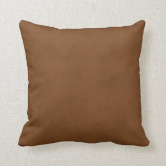 Vintage Leather Tanned Brown Parchment Paper Templ Throw Pillow