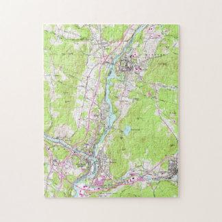 Vintage Lebanon & Hanover New Hampshire Map (1959) Jigsaw Puzzle