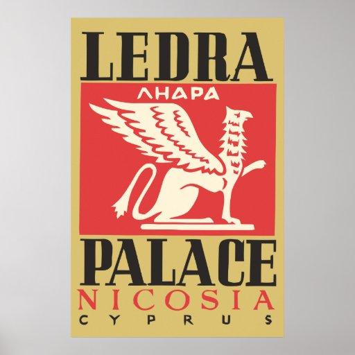Vintage Ledra Palace Hotel Cyprus travel Poster