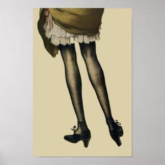 Vintage Legs Poster