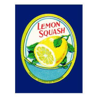 Vintage Lemon Squash Label Postcard
