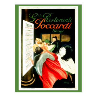 Vintage Leonetto Cappiello Italian Restaurant Postcard