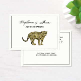 Vintage Leopard Cheetah Spotted Cat Drawing Business Card