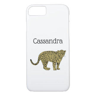 Vintage Leopard Cheetah Spotted Cat Drawing iPhone 8/7 Case