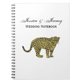 Vintage Leopard Cheetah Spotted Cat Drawing Notebooks