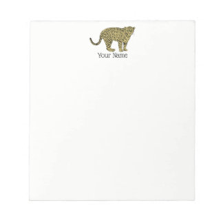 Vintage Leopard Cheetah Spotted Cat Drawing Notepad