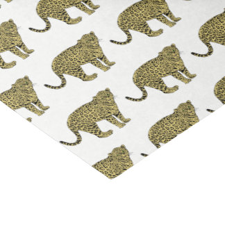 Vintage Leopard Cheetah Spotted Cat Drawing Tissue Paper
