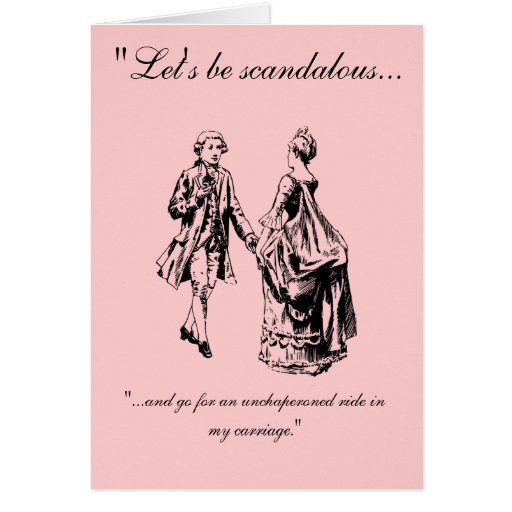 VIntage Let's Be Scandalous Valentine's Day Card