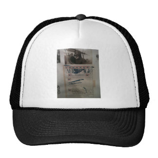 Vintage letter aviation history trucker hat