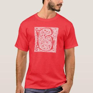 "Vintage Letter B Monogram Black White ""B"" Initials T-Shirt"