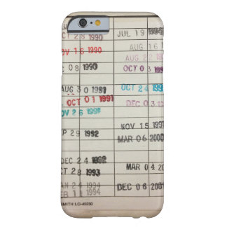 Vintage Library Due Date Cards Barely There iPhone 6 Case