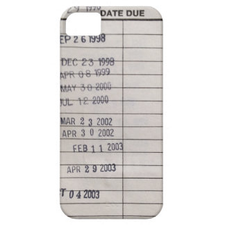 Vintage Library Due Date Cards iPhone 5 Covers