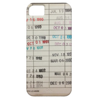 Vintage Library Due Date Cards Case For The iPhone 5