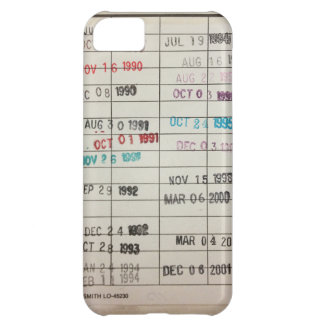 Vintage Library Due Date Cards iPhone 5C Cover
