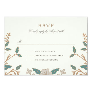"Vintage Library RSVP Card 3.5"" X 5"" Invitation Card"