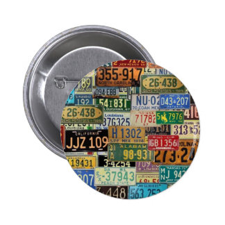 Vintage License Plates Pin