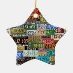 Vintage License Plates Christmas Ornaments