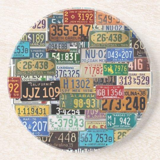 Vintage License Plates Coaster