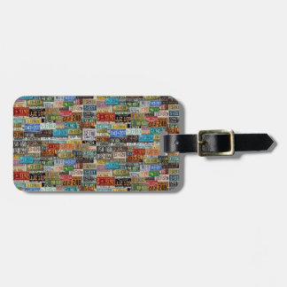 Vintage License Plates Luggage Tag