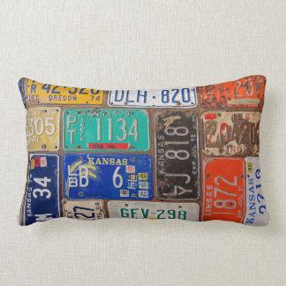Vintage License Plates Throw Pillows