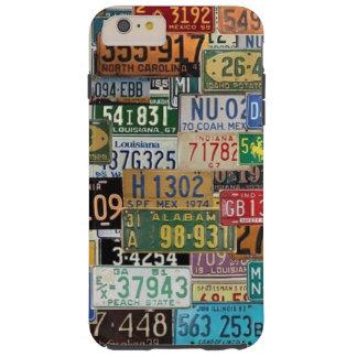 Vintage License Plates Tough iPhone 6 Plus Case