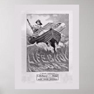 Vintage Lifebouy Soap Poster