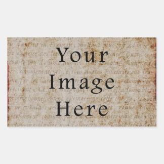 Vintage Light Brown Script Text Parchment Paper Sticker