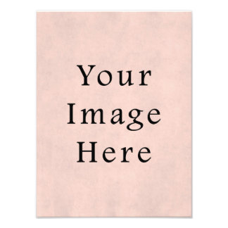 Vintage Light Rose Pink Parchment Paper Background Photo Print