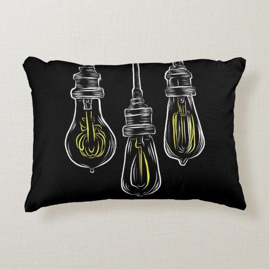 Vintage Lightbulbs Decorative Pillow