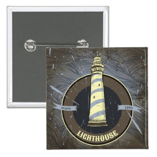 Vintage Lighthouse | 1960 2 Inch Square Button