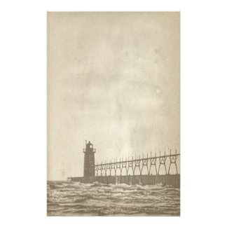 Vintage Lighthouse Paper Stationery