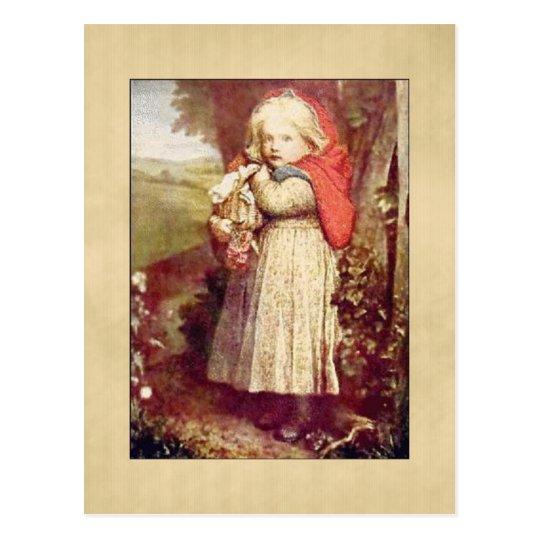 Vintage Lil Red Riding Hood Postcard