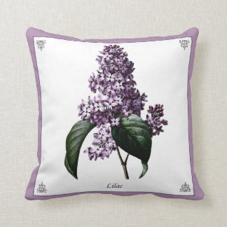 Vintage Lilac Botanical Pillow