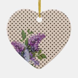 Vintage lilac ceramic ornament
