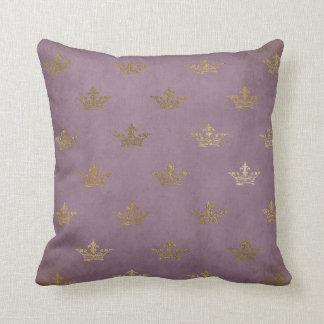 Vintage Lilac Crown Gold Princess Baby Pillow