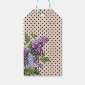 Vintage lilac gift tags