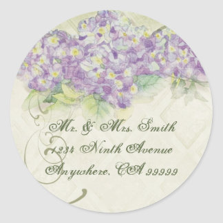Vintage Lilac Hydrangea - Wedding Seal Stickers
