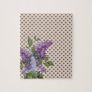 Vintage lilac jigsaw puzzle