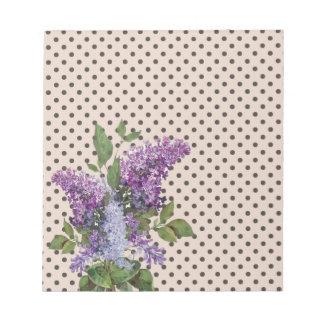 Vintage lilac notepads
