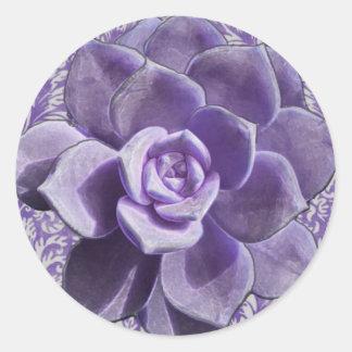 Vintage Lilac Succulent Gift Favor Stickers