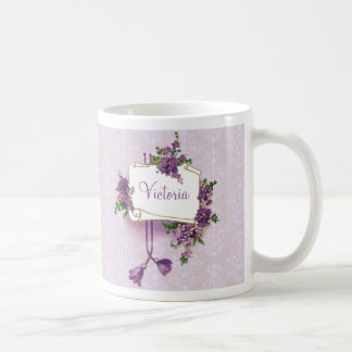 Vintage Lilacs Personalized Coffee Mug