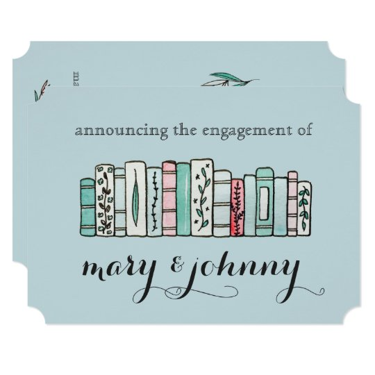 Vintage Lilies Engagement Announcements
