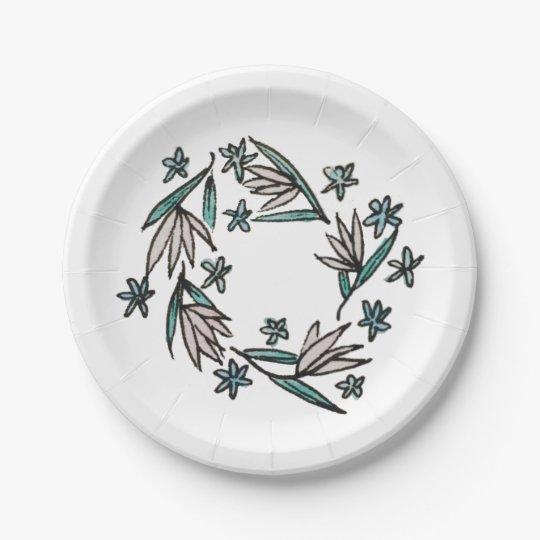 Vintage Lilies Paper Plates 7 Inch Paper Plate