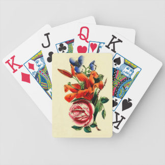 Vintage Lily Rose | Floral Watercolor Bicycle Bicycle Playing Cards