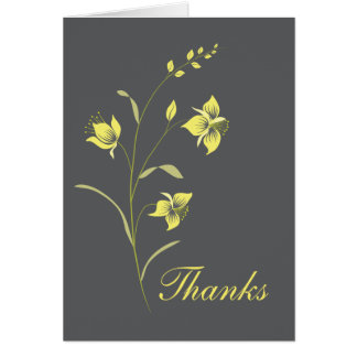 Vintage Lily Thank You Card