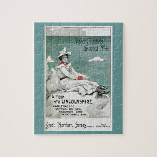 Vintage Lincolnshire, UK, Holiday Leaflet Jigsaw Puzzle