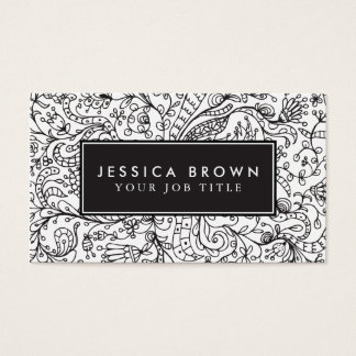 Vintage line art Business Card Template
