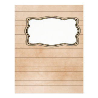 Vintage Lined Paper With Picture Box