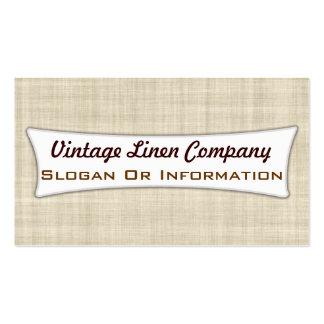 Vintage Linen Business Cards